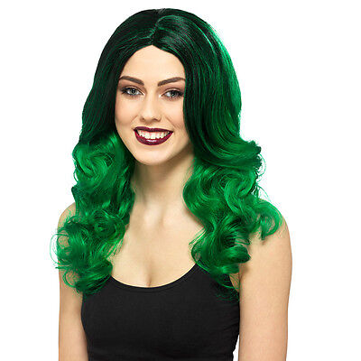 Green Witch Costume (Enchanting Long Green Wig Halloween Costume Dress Up Cosplay Witch -)