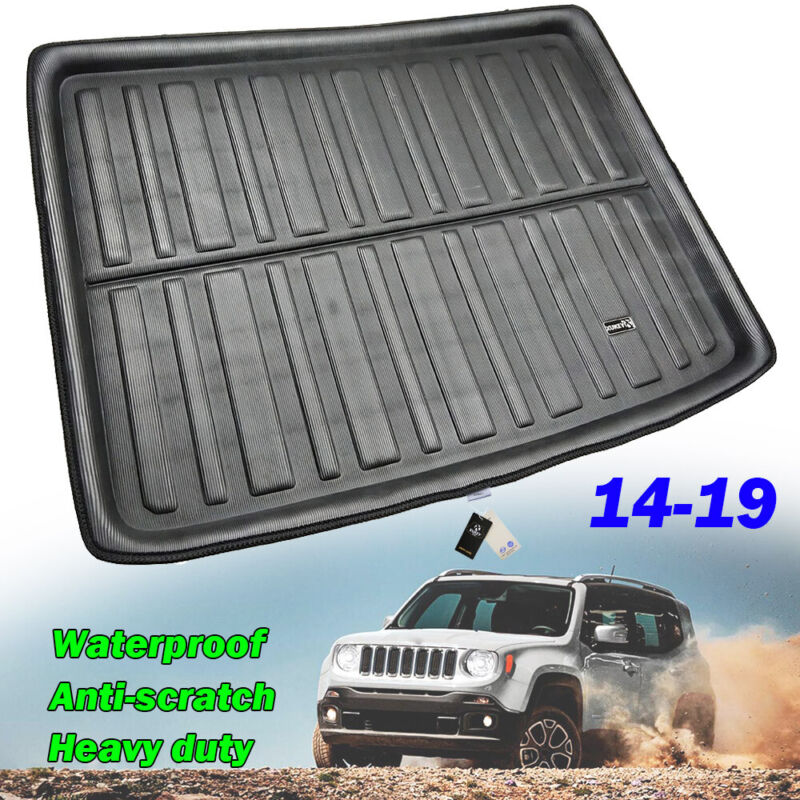 Interior All Weather Floor Mats Cargo Liners Carpet Trunk Tray For Jeep Renegade