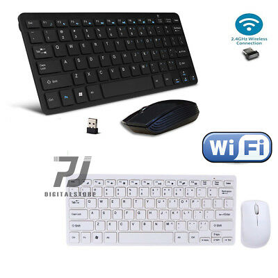 KIT TASTIERA E MOUSE MINI WIFI WIRELESS PER PC 2.4GHz KEYBOARD USB SENZA FILI
