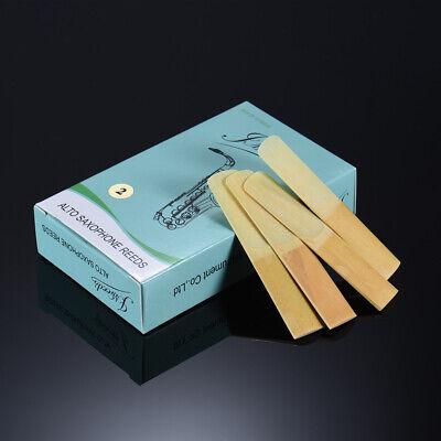 10pcs / Box Es-Alt Saxophon Sax Bambus Blätter Stärke 2,0 F9U7