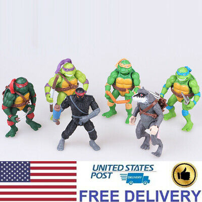 Teenage Mutant Ninja Turtles Anime TMNT Action Figures Doll Kids Toys 6