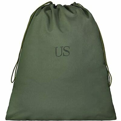 Genuine GI US Military 100% Cotton Canvas Laundry Bag, Olive Drab Green (3 Home