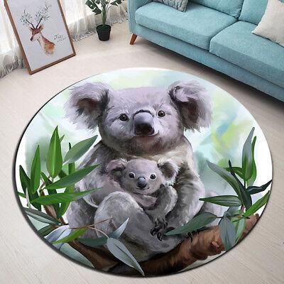 Round Carpet Flooring Mat Koala In Mother's Hug Modern Home Floor Decor Area Rug