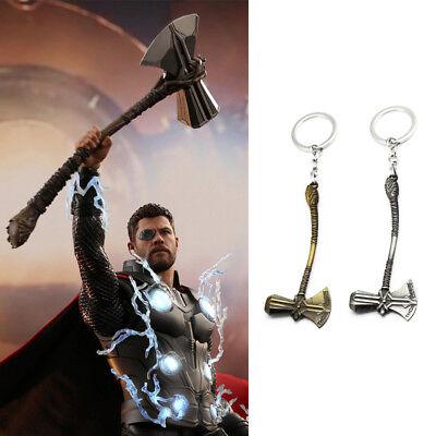 Thor Stormbreaker Hammer Keychain The Avengers Infinity War Tomahawk Keyring USA (Avengers Hammer)