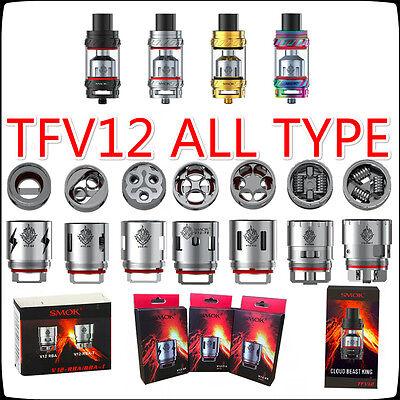 All Carazy Tfv12 Cloud Beast King Tank Smok V12    X4 Q4 T6 T8 T12 Rba T  Coils