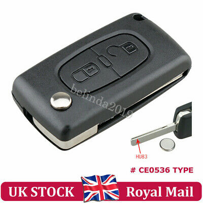 Peugeot Remote Key Fob Case Shell 2Button+ Battery For 207 307 308 807 3008 5008