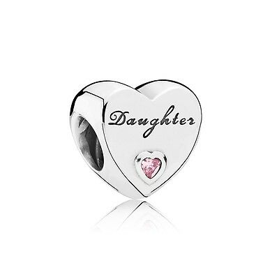 PANDORA Daughter's Love Charm Sterling Silver 925 new 791726PCZ