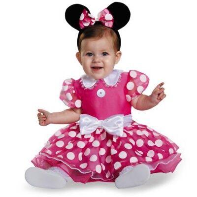 Baby Halloween Minnie Maus (Disney Minnie Mouse Maus Baby Kinder Fasching Halloween Karneval Kostüm 80 - 86)