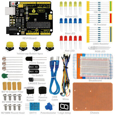 KEYESTUDIO Electronic Components Sensor Starter Kit Set for Arduino UNO Project
