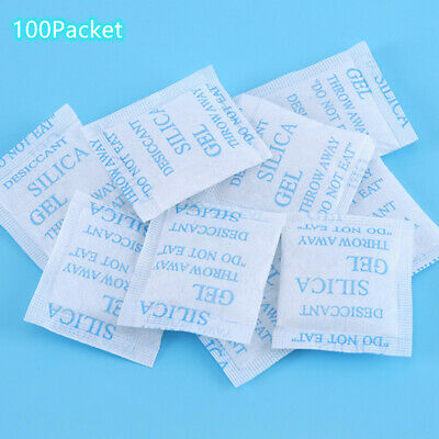Desiccant 3 Gram 100 Packs Silica Gel Non Toxic Moisture Dehumidifier Absorber