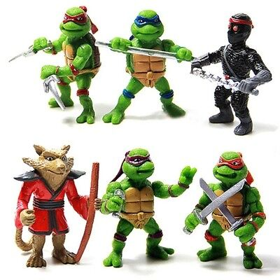 6 Pcs Mutant Ninja Turtle Figurines Sets for Cake Topper Decor Action Figure Toy - Ninja Turtle Cake Decorations