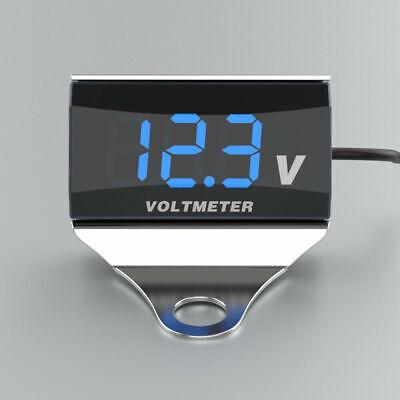 Motorcycle Dc 10-150v Digital Voltmeter Led Display Waterproof Voltage Us