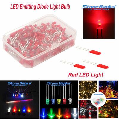150300600pcs 35mm Red Bright Light Led Diode Lamp Assortment Kit Hard Box