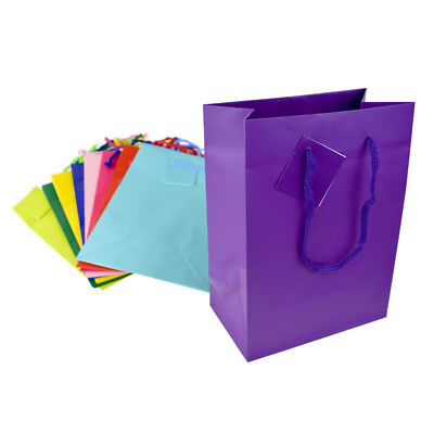 Solid Colored Matte Gift Bags with Tag, 9-1/2-Inch](Colored Gift Bags)