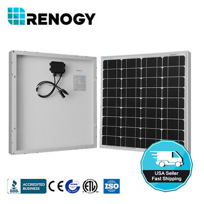 Renogy 50 Watt 50W Solar Panel Mono Off Grid 12V Battery Charger RV Boat Caravan