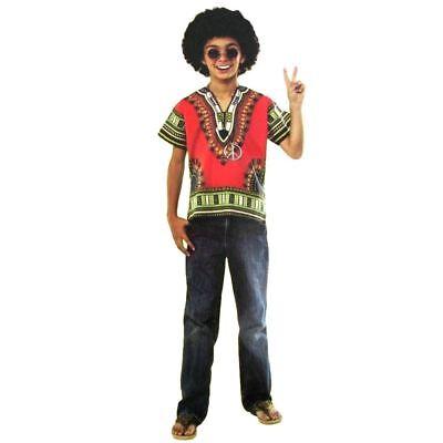 Hippie Boys Halloween 4-Piece Child Costume Sizes S (4-6)  NWT - Hippie Costume For Boys