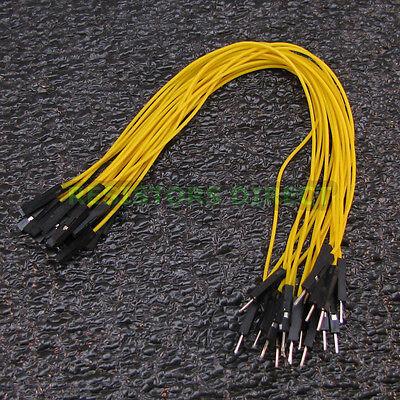 20x 20cm DuPont Yellow Male - Female 20pcs Breadboard Jumper Wire Arduino Pi W20