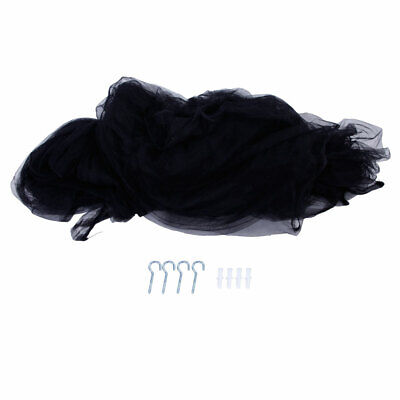 NEW 4 Corner Post Bed Canopy Mosquito King Queen Size Netting Black Bedding ()