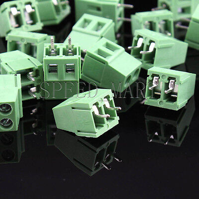 100 Pcs Kf128-2p 2-pin 5.08mm0.2 Pcb Universal Screw Terminal Block Connector
