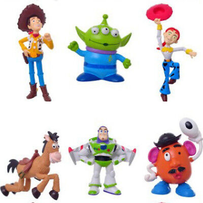 Toy Story Cakes ( 6 PCS Toy Story Woody Alien Cartoon Action Figure Cake Topper Gift Doll Toys)