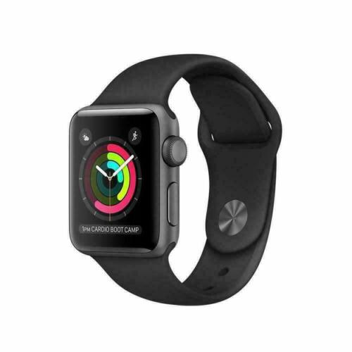 Apple Watch Series 2/3 42MM - Space Gray Aluminum Case with Black Sport Band