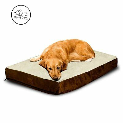 OFFICIAL Floppy Dawg™ Large Dog Bed with Removable Cover & Waterproof Liner