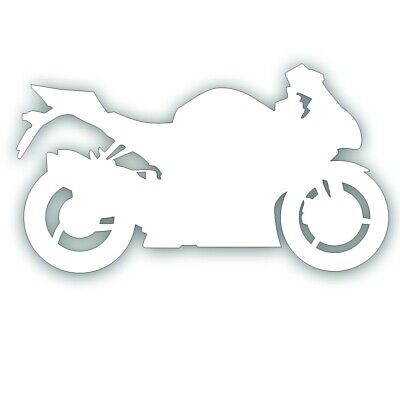 MOTORCYCLE DECAL for GSX sport bike rider crotch rocket trailer WHITE