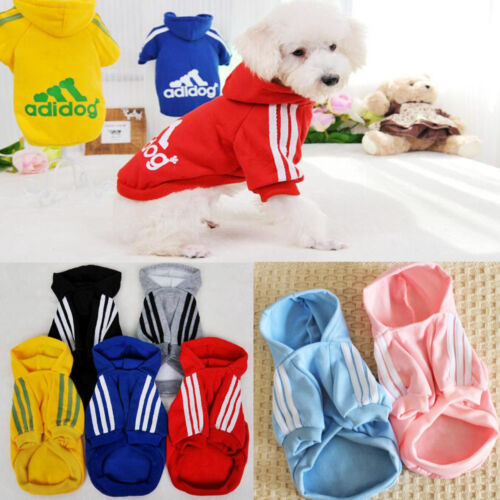 Pet Dog Coat Jacket Fall Winter Clothes Puppy Sweater Hooded Clothing Apparel UK 4
