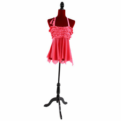 Female Mannequin Torso Dress Form Tripod Stand Clothing Online Store Display Red
