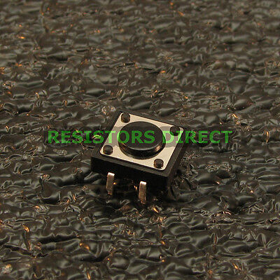 25x 12x12x4.3mm Tactile Switch Momentary No Spst Button Arduino Raspberry Pi S48