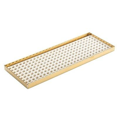 14 78 Counter Top Drip Tray - Brass Finish - W Drain - Draft Beer Bar Spills