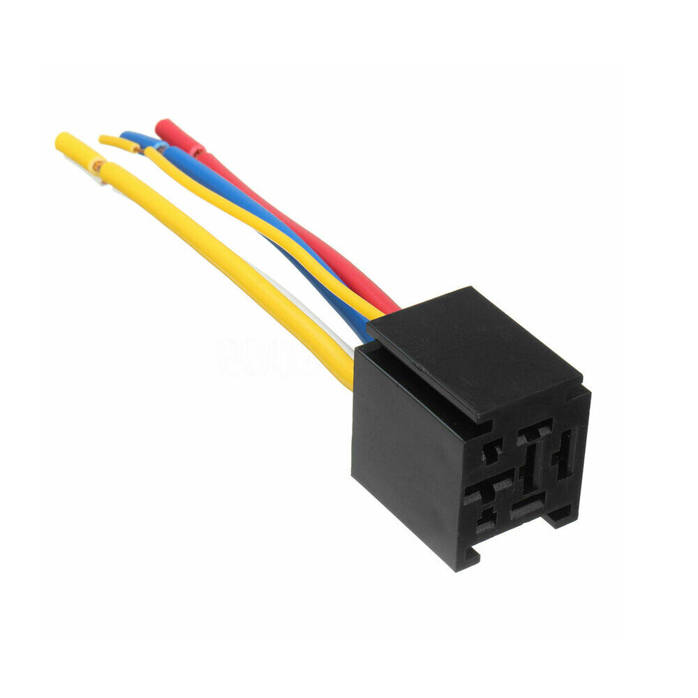 Dc 12v 80a 5 Pin Spdt Truck Auto Wire Relay Socket Control