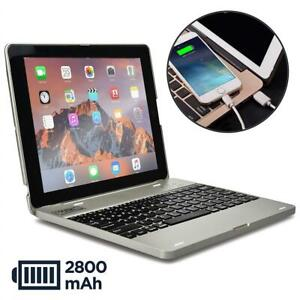 NEW COOPER KAI SKEL P1 Keyboard case compatible with iPad 4, iPad 3, iPad 2 | Bluetooth, Wireless Clamshell Cover wit...