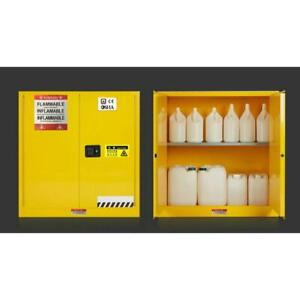 30 Gallon Chemical Safety Fireproof Chemicals Flammable Liquids Storage Cabinet 032179