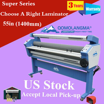 Us Stock Qomolangma 55in Full-auto Wide Cold Roll Laminator With Heat Assisted