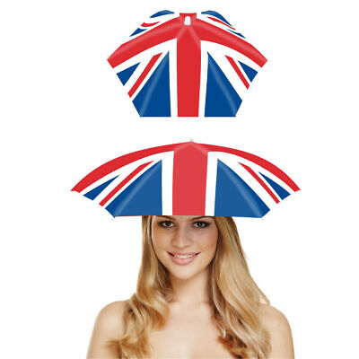 VE DAY 8TH MAY -Union Jack Umbrella Hat - Foldable Hat