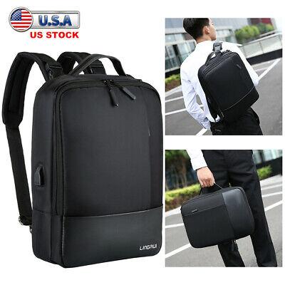 Premium Anti-theft Laptop Men Notebook Backpack USB Charger Business School Bag