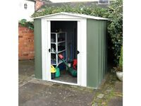 6 x 5 Greenvale Apex Metal Shed. New. Flatpack. Pick up today.