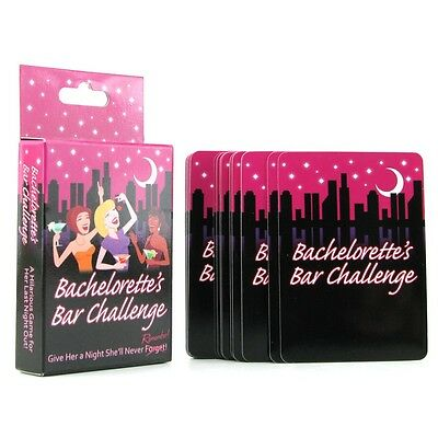 Bachelorette Party Bar Challenge Game - Fun Bridal Shower Favors