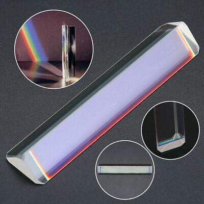 1x Triangular Prism Optical Spectrum Glass Light Spectrum Photography Teach Tool