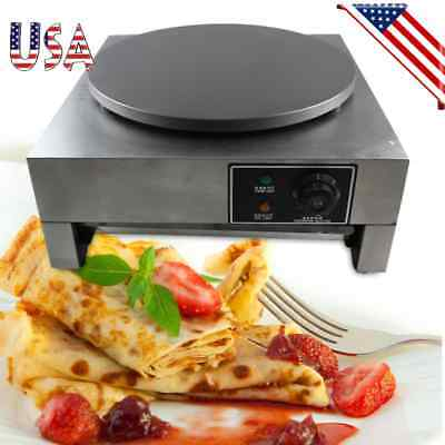 16 Heavy Duty Commercial Single Crepe Maker Electric Crepe Pan Maker Non-stick