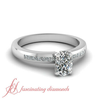 .65 Ct Cushion Cut GIA Certified Diamond Engagement Ring Channel Set For Women