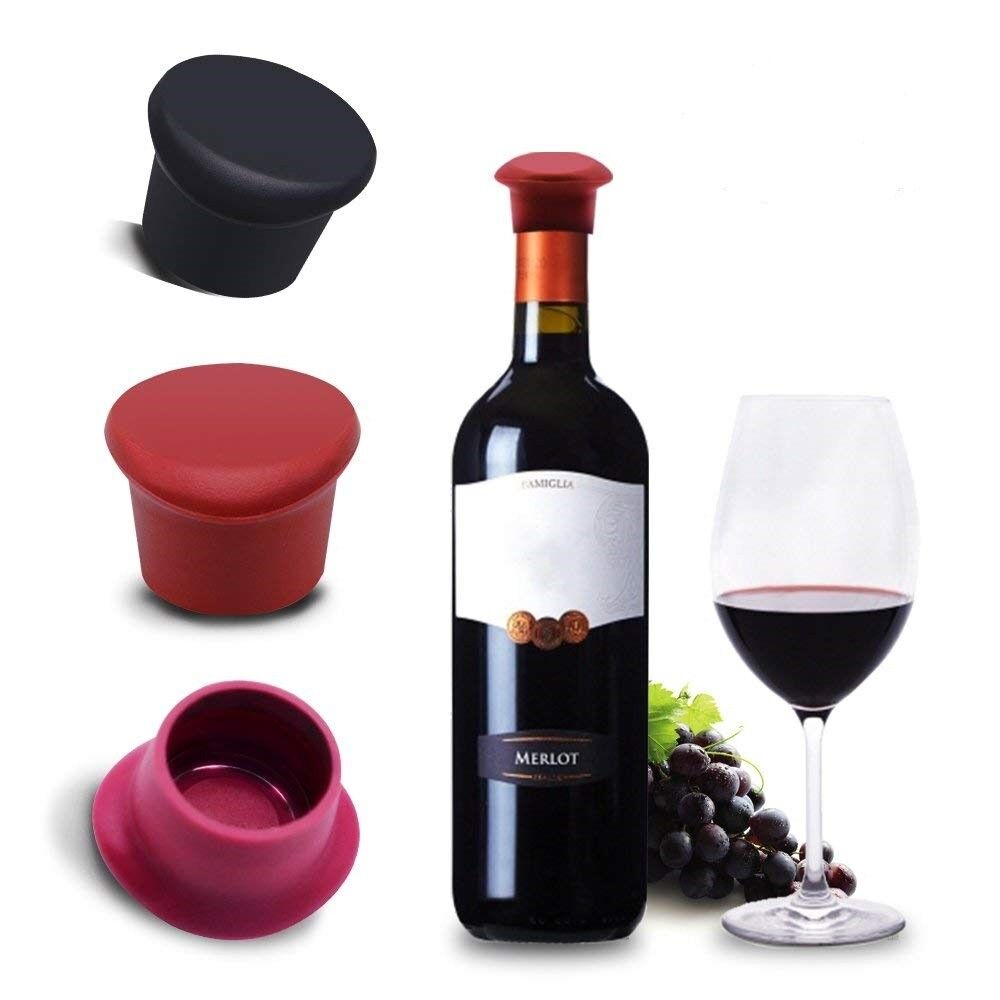 3Pcs Silicone Bottle Caps Beer Cover Coke Soda Cola Lid Wine Saver Stopper Bar Tools & Accessories