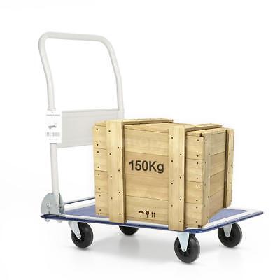 Heavy Duty Hand Truck Folding Push Pull Platform Cart Luggage Trolley 4 Wheels