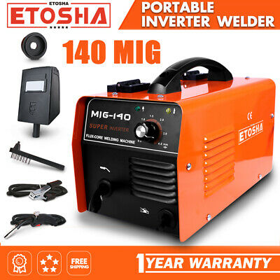 Etosha Mig 140 Welder Flux Core Wire Gasless Automatic Feed Welding Machine
