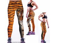 Leopard Tiger Women Lady YOGA Workout Gym Sports Pants Leggings Fitness Trousers