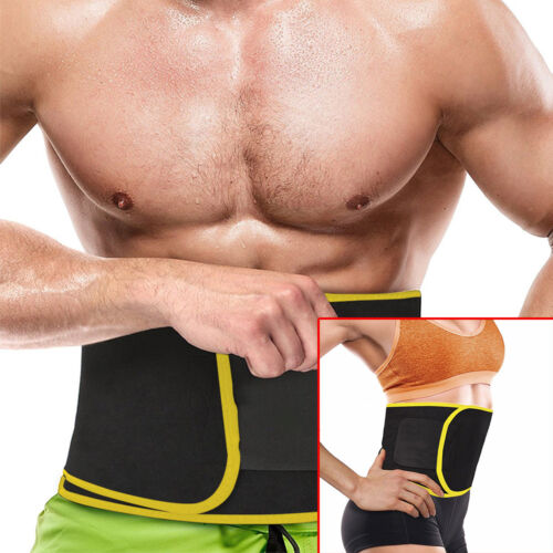 Waist Trimmer Belt Sweat Band Wrap AB Stomach Weight Loss Burner For Men & Women Health & Beauty
