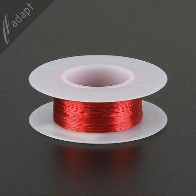 Magnet Wire, Enameled Copper, Red, 30 AWG (gauge), 155C, ~1/16 lb, 200' HPN
