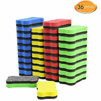 36 Pack Magnetic Whiteboard Dry Erase Eraser Chalkboard Cleansers For Classroom