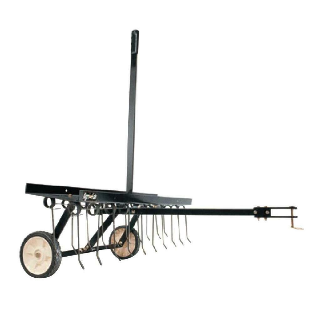 AGRI FAB 40 Inch Lawn Dethatcher Tow Behind Riding Mower Tra